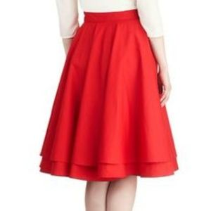 Modcloth Alice Moon Double Layered Circle Skirt